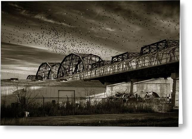 Arlington Bridge Greeting Card by Bryan Scott