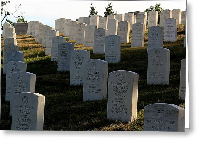 Arlington Cemetery Greeting Card by DustyFootPhotography