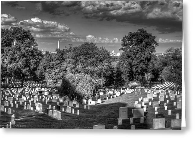Greeting Card featuring the photograph Arlington Cemetery by Ross Henton