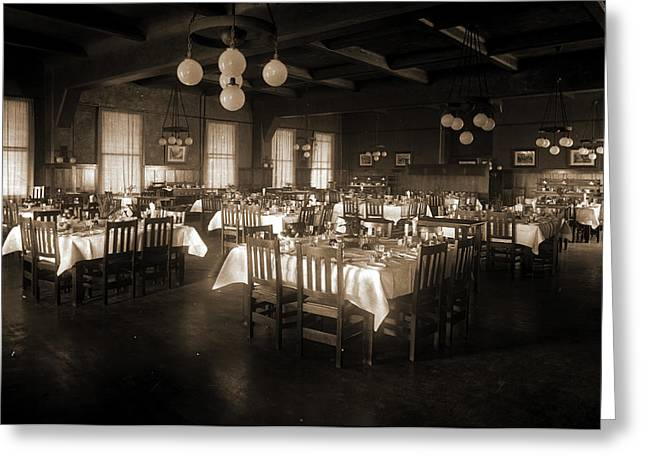 Arlington Hotel, Petoskey, Michigan, Hotels, Dining Rooms Greeting Card by Litz Collection