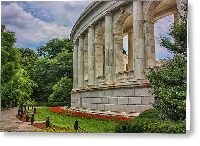 Arlington Memorial Amphitheater Greeting Card by Kim Hojnacki