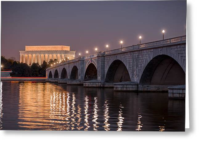 Arlington Memorial Bridge Greeting Card by Eduard Moldoveanu