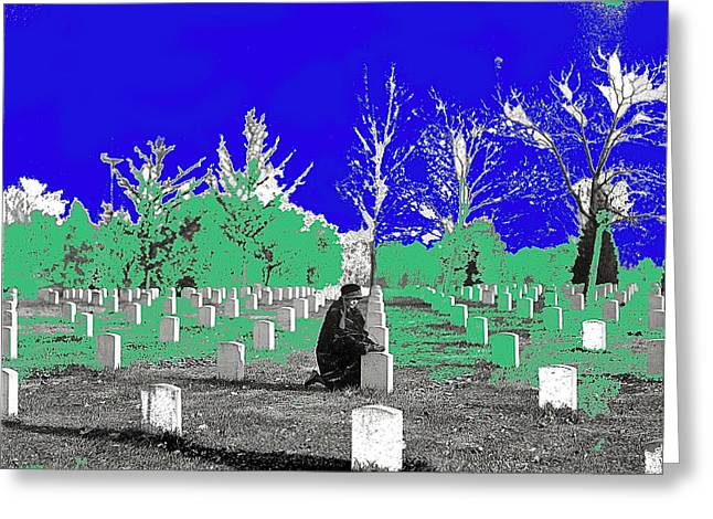 Arlington National Cemetery  Harris And Ewing Collection Arlington Virginia 1922-2014 Greeting Card by David Lee Guss
