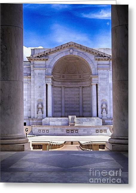 Arlington National Cemetery Greeting Card by Thomas R Fletcher