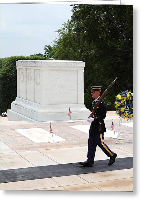 Arlington National Cemetery - Tomb Of The Unknown Soldier - 01134 Greeting Card