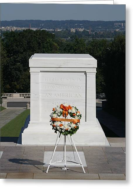 Arlington National Cemetery - Tomb Of The Unknown Soldier - 12121 Greeting Card by DC Photographer