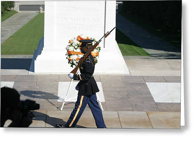 Arlington National Cemetery - Tomb Of The Unknown Soldier - 121210 Greeting Card by DC Photographer
