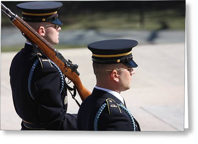 Arlington National Cemetery - Tomb Of The Unknown Soldier - 121220 Greeting Card by DC Photographer