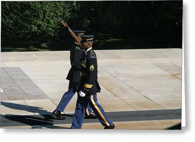Arlington National Cemetery - Tomb Of The Unknown Soldier - 12127 Greeting Card