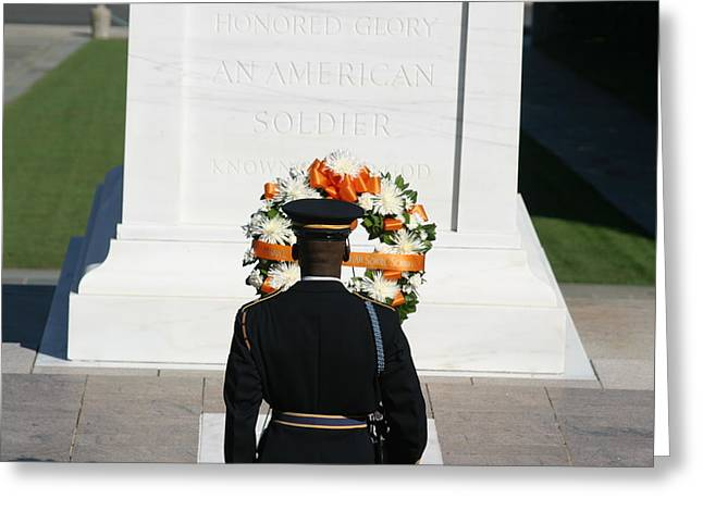 Arlington National Cemetery - Tomb Of The Unknown Soldier - 12128 Greeting Card by DC Photographer