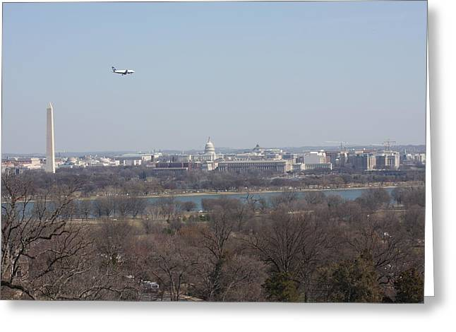 Arlington National Cemetery - View From Arlington House - 12122 Greeting Card by DC Photographer