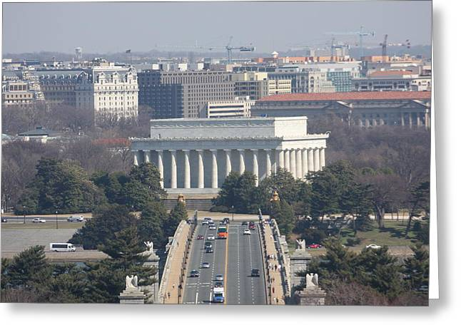 Arlington National Cemetery - View From Arlington House - 12123 Greeting Card by DC Photographer