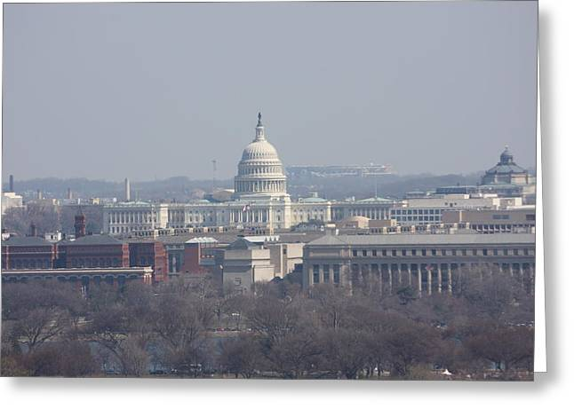 Arlington National Cemetery - View From Arlington House - 12124 Greeting Card