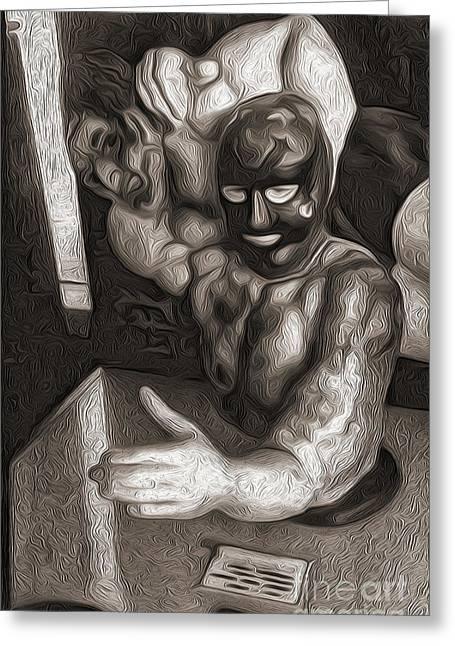 Arm Wrestler Greeting Card