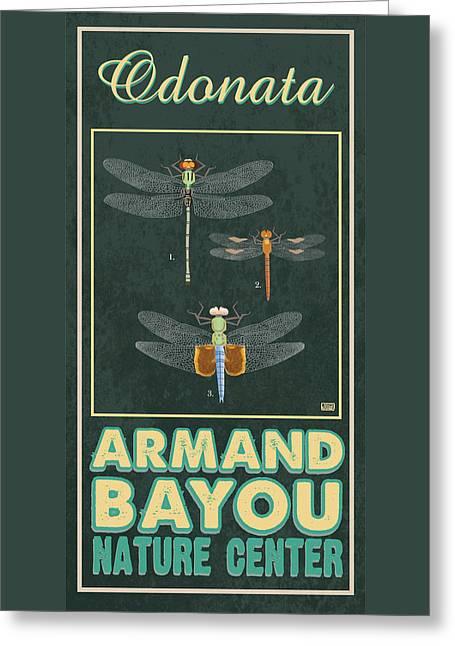 Armand Bayou Dragonfly Greeting Card