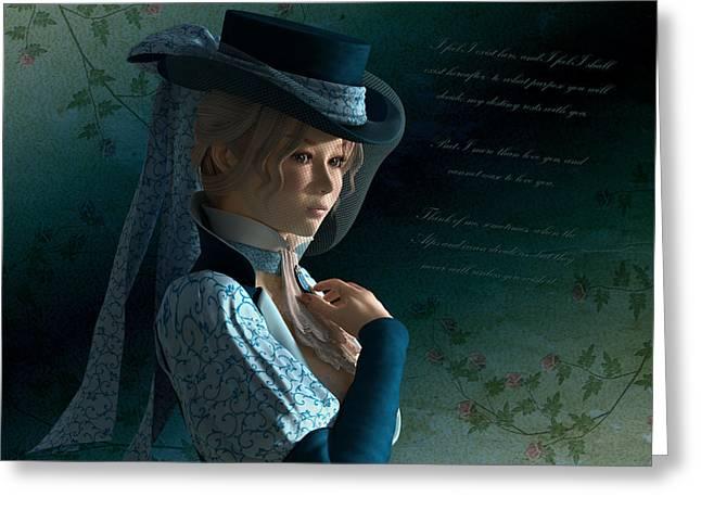 Armandine Greeting Card by Britta Glodde