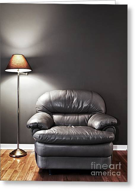 Armchair And Floor Lamp Greeting Card by Elena Elisseeva