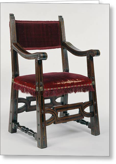 Armchair Unknown Italy, Europe About 1620 - 1630 Mahogany Greeting Card