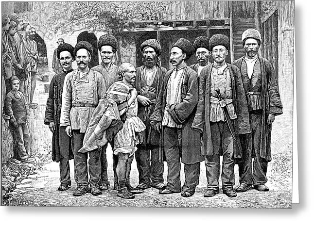 Armenian Miners Greeting Card by Collection Abecasis