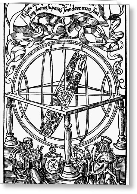 Armillary Sphere, 1514 Greeting Card by Granger