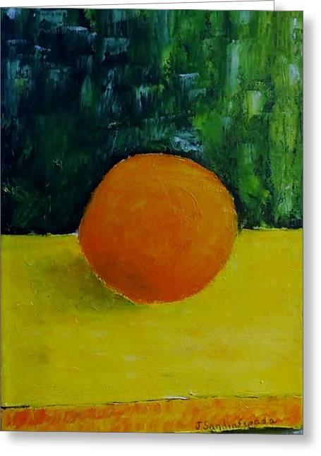 Armonia Naranja Greeting Card by Juan Sandin