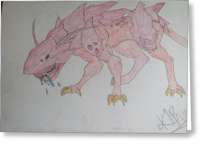 Armored Creature  Greeting Card by Katelyn Biles
