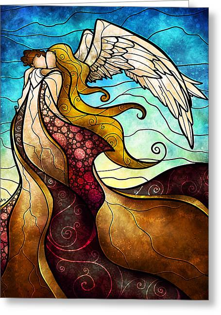 Arms Of The Angel Greeting Card