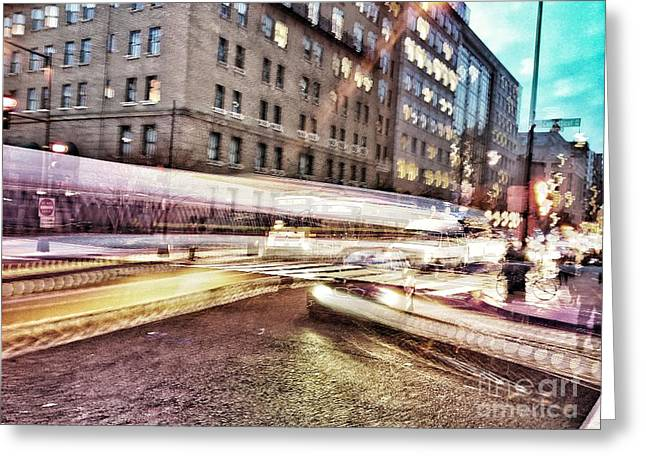 Army And Navy Rush Hour Greeting Card by Jim Moore