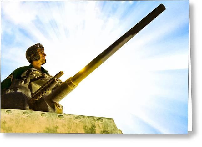 Army Tank Commander - World War II Greeting Card