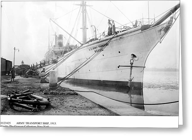 Army Transport Ship, 1913 Greeting Card by Granger