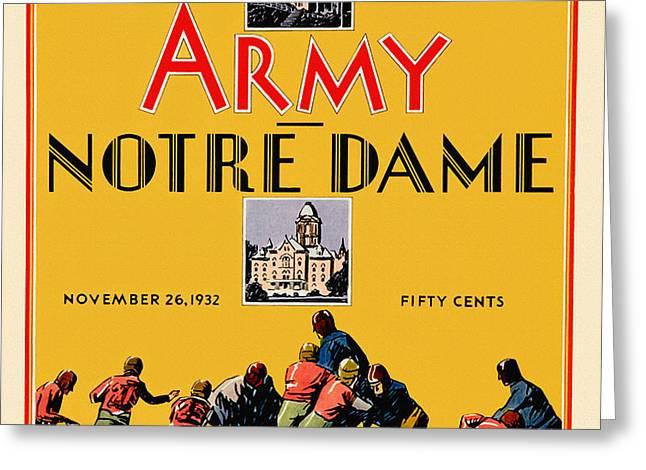 Army Vs Notre Dame 1932 Football Program Greeting Card