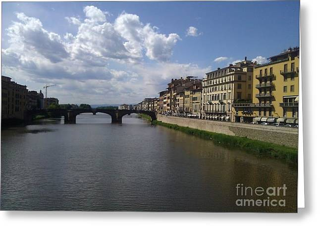 Arno River Greeting Card by Ted Williams