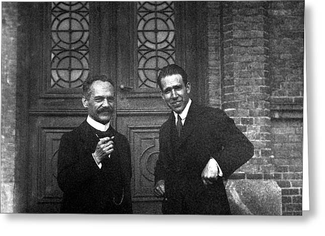 Arnold Sommerfeld And Niels Bohr Greeting Card