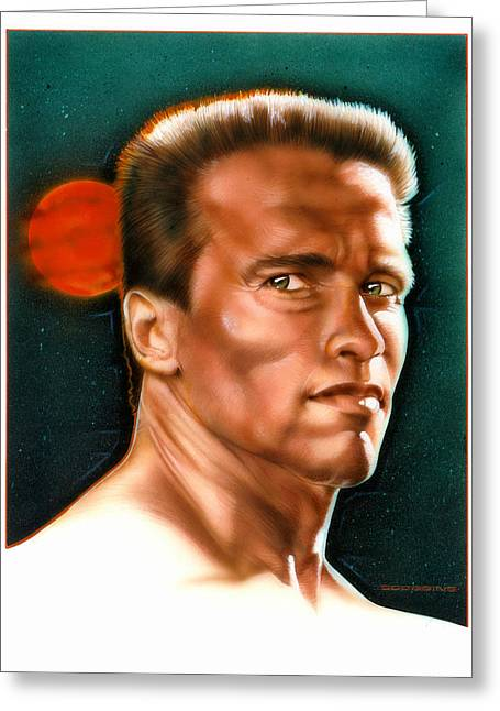 Arnold Greeting Card by Timothy Scoggins