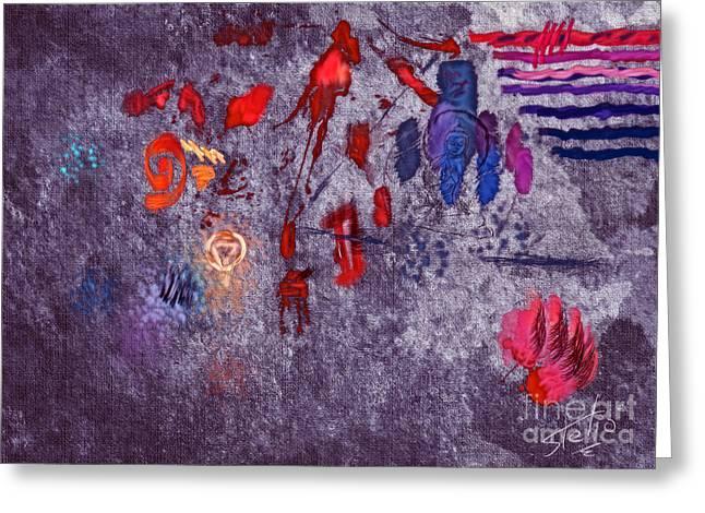 Around Indigo Greeting Card by Stelios Kleanthous