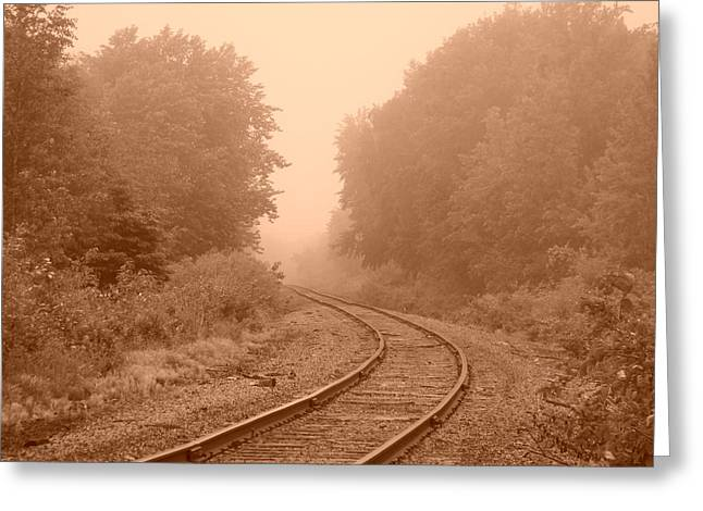 Around The Bend Greeting Card by Alison Gimpel