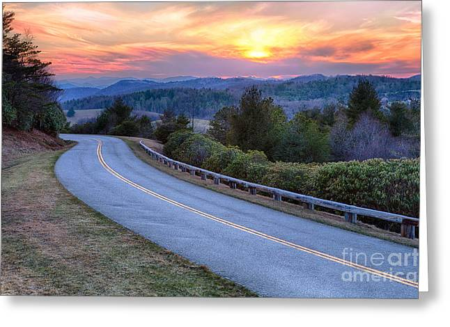 Around The Bend - Blue Ridge Parkway Greeting Card