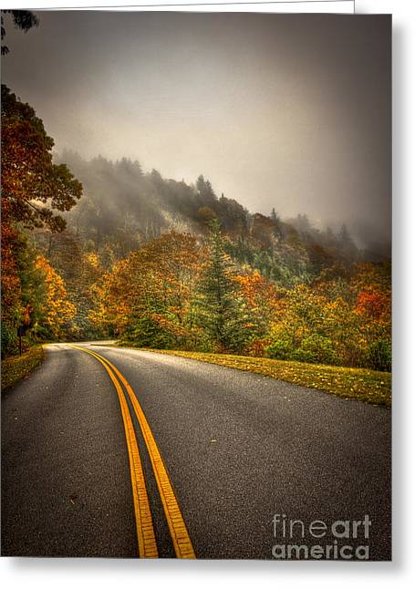 Around The Bend Clouds Along The Blue Ridge Parkway Greeting Card by Reid Callaway