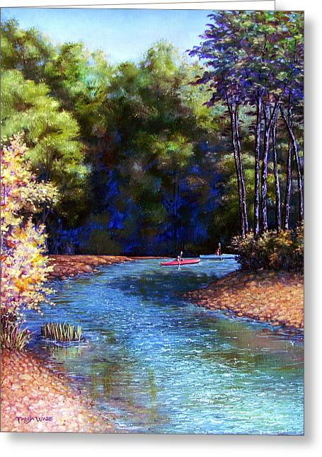 Around The Bend Greeting Card by Tanja Ware