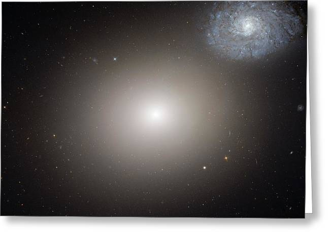 Arp 116 Galaxy Pair Greeting Card by Nasa, Esa, And The Hubble Heritage (stsci/aura)- Esa/hubble Collaboration