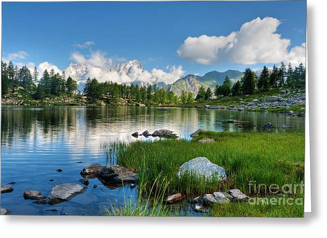 Arpy Lake - Aosta Valley Greeting Card by Antonio Scarpi