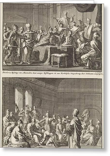 Arrest Of Some Bishops At The Order Of Bishop Dioscorus Greeting Card