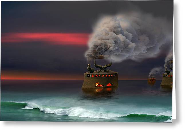 Arrival Greeting Card by Igor Zenin