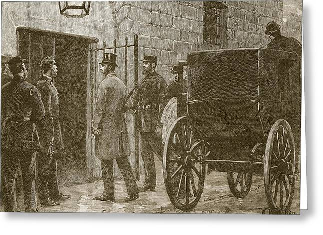 Arrival Of Mr Parnell At Kilmainham Greeting Card by William Barnes Wollen