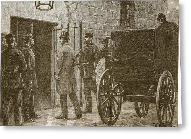 Arrival Of Mr Parnell At Kilmainham Greeting Card