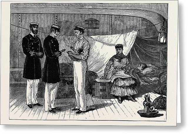 Arrival Of The Latest British Refugee On Board The Rosina Greeting Card by English School