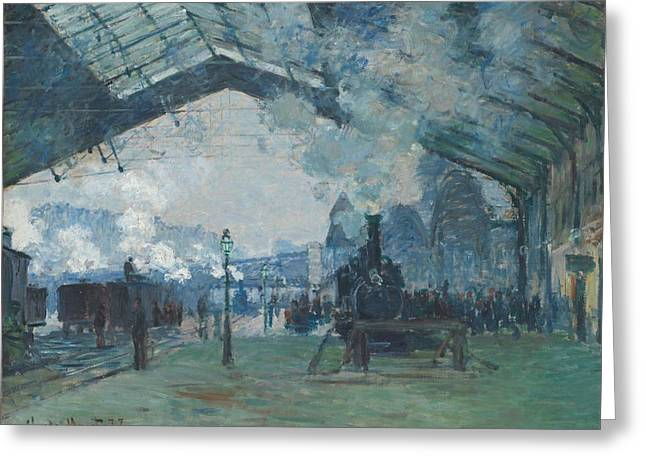 Arrival Of The Normandy Train Greeting Card by Claude Monet