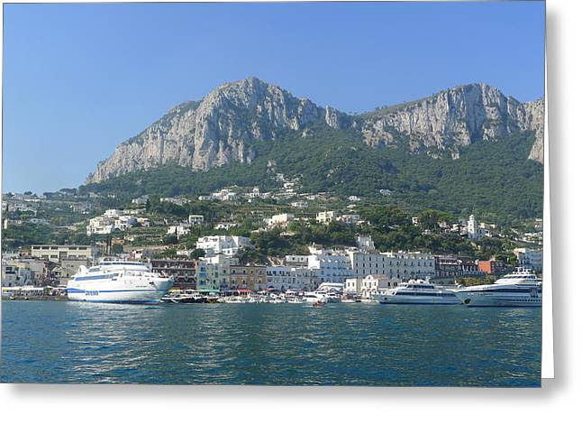 Arrival To Capri  Greeting Card