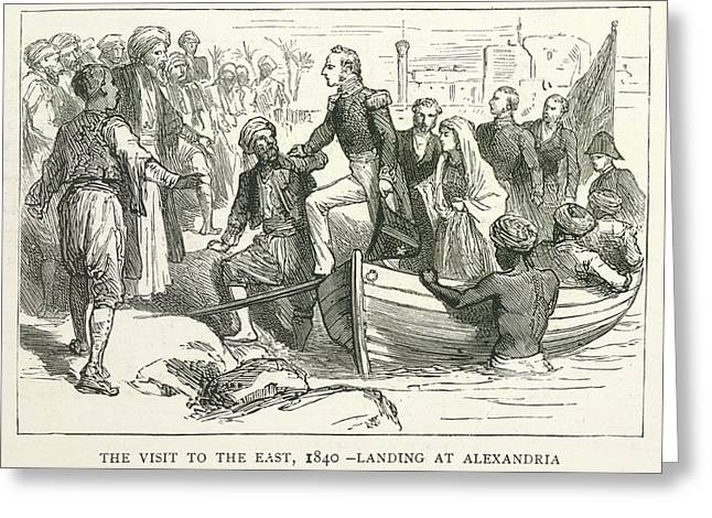 Arriving At Alexandria Greeting Card by British Library
