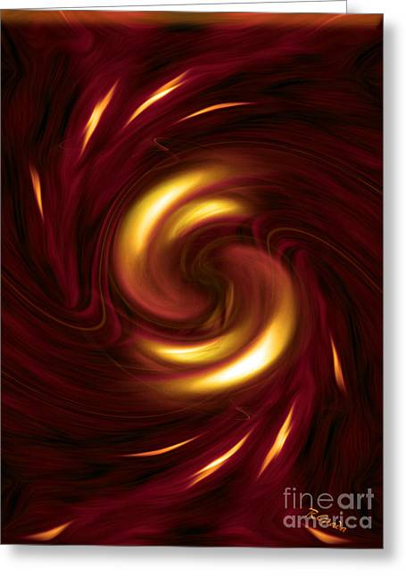 Arrogance - Abstract Art By Giada Rossi Greeting Card by Giada Rossi